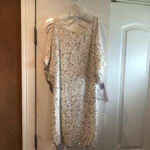 Brand new Off white sequins dress